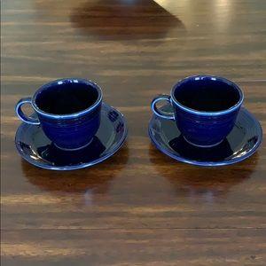 Cobalt Blue Fiesta 2 piece tea set